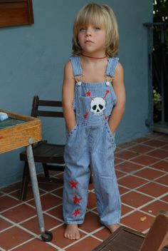Fabric Collaged overalls...