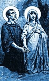 St. Chrysanthus and St. Daria: According to the 1962 Missal of St. John XXIII the Extraordinary Form of the Roman Rite, today is the feast of Sts. Chrysanthus and Daria, a husband and wife who carried on an active apostolate among the noble families of Rome during the third century. When they were denounced as Christians, they underwent various tortures with great constancy, and they were buried alive in a sandpit in the year 283. #Catholic #pray