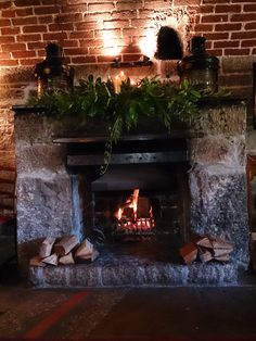 Our beautiful log fire and it's not just for Christmas!