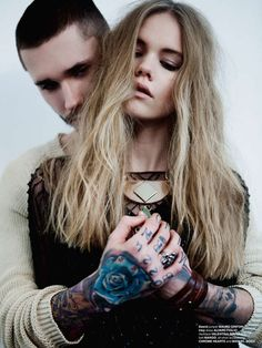 The It Blows Design Scene Exclusive Captures Edgy Couple Imagery #calvinklein trendhunter.com