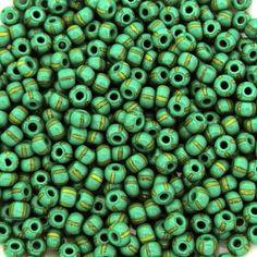 "Vintage Ocean Blue Round Translucent Glass Seed Beads 20/"" Hank Luminous Glow!"