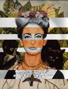 "Frida Kahlo ""Self Portrait"" & Joan Crawford Art Print"