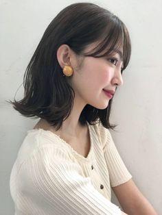 Honey Bob outside ears in 2019 Japanese Short Hair, Japanese Haircut, Asian Short Hair, Japanese Hairstyle, Medium Straight Haircut, Medium Hair Styles, Short Hair Styles, Asian Haircut, Medium Length Hair With Layers