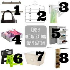 closet organization ideas for the girls' closet