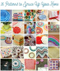 25 Crochet Patterns to Spruce Up Your Home - Changing seasons always inspire me to do some reorganizing and redecorating ... just a new set of pillows can really freshen up room. Today I have pulled together 25 Crochet Patterns to Spruce Up Your Home. Happy crafting!