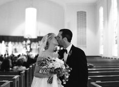 sweet kiss at the recessional | Cassidy Carson