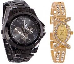 Flipkart- Rosra C1 Analog Watch  For Couple at Rs. 375 (87% OFF)