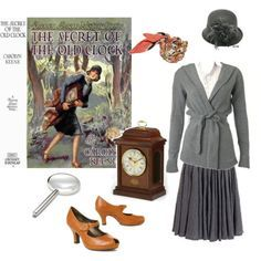 The Secret of the old clock - Nancy Drew inspired Nancy Drew Costume, Nancy Drew Party, Book Costumes, Character Costumes, Halloween Costumes, Literary Costumes, Halloween Ideas, Costume Ideas, Halloween Party