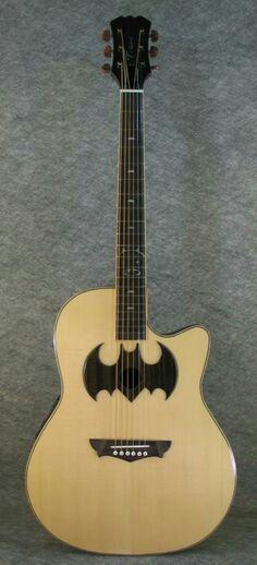 Batman symbol guitar sound hole