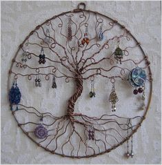 Jewelry Holder, Earring Tree with Necklace Hooks, Jewelry Organizer, Tree of Life Earring Holder, Jewelry Display - Projects - schmuck Tree Of Life Earrings, Tree Of Life Jewelry, Tree Of Life Pendant, Jewellery Storage, Jewelry Organization, Jewellery Display, Jewellery Holder, Diy Jewellery, Storage Organization