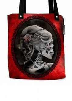 Heavy Metal Home Women's Beautiful Forever Love Victorian Style Lolita Skull Cameo Tote Red Heavy Metal Home http://www.amazon.com/dp/B00D61UKNC/ref=cm_sw_r_pi_dp_WSPrub1P1FCAF