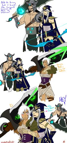 Chillout :: ashe likes large swords XD -- League of Legends - Ashe, Tryndamere, Riven