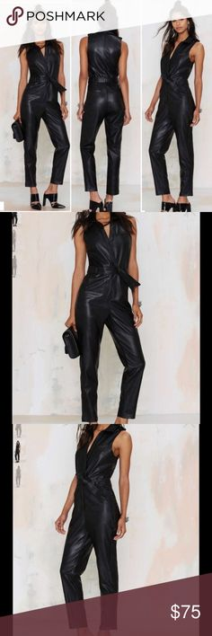 Black Jumpsuit New. Size small Nasty Gal Pants Jumpsuits & Rompers
