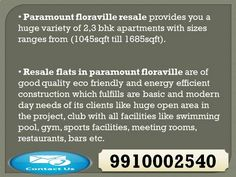 We are providing (09910002540) resale flats in paramount floraville sector 137 noida, price list, floor plan, layout, ready to move flats in paramount floraville noida expressway, possession