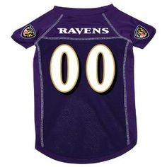 Baltimore Ravens Pet Dog Football Jersey Xl by NFL -- Available at buydogsweaters.com