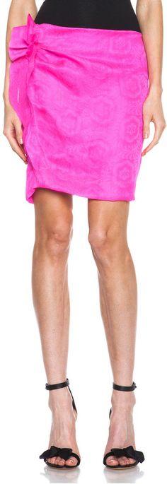Isabel Marant Kristy Silk Skirt in Fuchsia on shopstyle.com