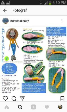 Irresistible Crochet a Doll Ideas. Radiant Crochet a Doll Ideas. Crochet Amigurumi Free Patterns, Crochet Bear, Crochet Doll Pattern, Crochet Toys, Crochet Beach Bags, Diy Doll, Amigurumi Doll, Crochet Designs, Acer