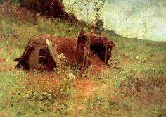 N Grigorescu - Bordei in padure. Virtual Art, High Art, Interesting History, Claude Monet, Famous Artists, Painting Inspiration, Art Forms, All Art, Romania