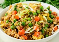 Thai Style Vegetarian Satay Fried Rice With Egg Recipe