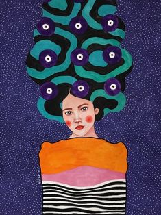 'Beneath the breaking waves' by Hulia Ozdemir Graffiti, Arte Pop, Gustav Klimt, Heart Art, Artist Art, Art Girl, Art Inspo, Collage Art, Canvas Wall Art