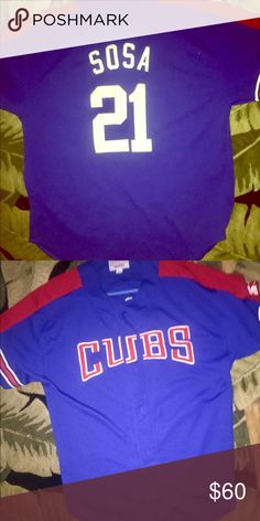 061f43b055b Authentic MLB Sammy Sosa Cubs jersey This is a very rare Sammy Sosa  authentic apparel jersey size extra large Other