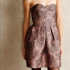 HPCandy rose jacquard dress Anthropologie Pretty dress. TTS with pockets.  Never worn. Anthropologie Dresses Mini