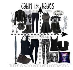 """Cabin 13: Hades"" by aquatic-angel ❤ liked on Polyvore featuring Bling Jewelry, NIKE, Twenty, UGG Australia, King Baby Studio, Frame Denim, WearAll, VIPARO and Black Pearl"
