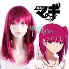 Magi - The Labyrinth of Magic Morgiana Medium Dark Red Anime Cosplay Hair Wig