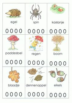 Splitsen in lettergrepen Autumn Activities For Kids, Fall Crafts For Kids, Speech Language Therapy, Speech And Language, Preschool Worksheets, Preschool Activities, Primary School, Pre School, Busy Boxes