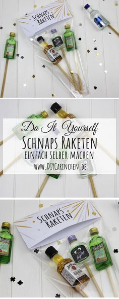 DIY Schnaps Raketen einfach selber machen - super für die Silvester PartyThanks personello for this post.DIY Schnaps rockets very easy - the perfect gift idea for New Year's Eve and your Silverster celebration free Printable: DIY, handicraf# DIY Schnapps, Silvester Party Diy, Craft Gifts, Diy Gifts, Geek Gifts, Homemade Gifts, Breakfast Party, Natal Diy, Diy Y Manualidades
