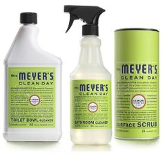 Mrs. Meyers Clean Day Lemon Verbena Bathroom Basics Set makes your bathroom smell fresh and clean with their 98% naturally derived ingredients!