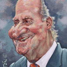 Caricatura de famosos: Rey emerito Juan-Carlos I. Caricatura Digital. Funny Caricatures, Celebrity Caricatures, Liam Neeson, Funny Celebrity Pics, Famous Cartoons, Caricature Drawing, Wtf Face, Humor Grafico, Good Times