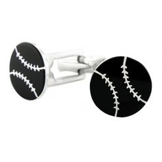 Sporty Cufflinks Sterling Silver Baseball for Mens baseball cufflinks
