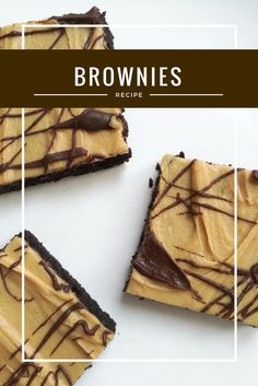 vegane Brownies, Erdnussbutter, Schokolade, Dessert, Kuchen, backen, vegan backen, einfach, lecker, Fudge Brownies, peanutbutter, chocolate, baking, Rezept, süß