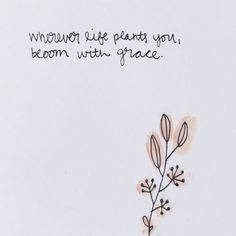 Wherever Life Plants You Bloom With Grace Quote Meaning - Wherever Life Plants You Bloom With Grace Quote Meaning and Wherever Life Plants You, Bloom With Grace // Hand Lettering - Life Is Too Short Quotes, Life Quotes To Live By, Time Quotes, Words Quotes, Best Quotes, Quotes Quotes, Short Qoutes, Cute Short Quotes, Awesome Quotes