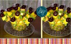 Banderillas de frutas, ¡deliciosos centros de mesa!