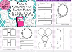 Comprehension pages for Guided Reading Notebooks!