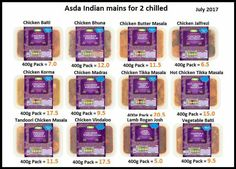 Slimming World Lasagne, Asda Slimming World, Chicken Butter Masala, Chicken Tikka Masala, Cooking Sauces, Korma, Meals, Skinny