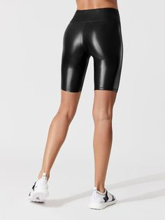 Biker Shorts Outfit Discover Takara Biker Short Shorts in Black Leather Shorts Outfit, Leather Pants, Short Outfits, Sexy Outfits, Spandex Girls, Triathlon Gear, Music Festival Outfits, Cycling Girls, Plastic Pants
