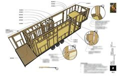 One of the best tiny house plans out there is Macy Miller's tiny house at MiniMotives. Macy's tiny home is built on a trailer and is a single level. Check out the plans for this unique tiny home design. Mini House Plans, Modern House Plans, House Floor Plans, Free Floor Plans, House Construction Plan, Ceiling Plan, Best Tiny House, Micro House, Tiny House Movement