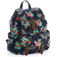 Floral Graphic Buckle Backpack - Polyvore