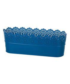 Another great find on #zulily! Dark Blue Metal Garden Container #zulilyfinds