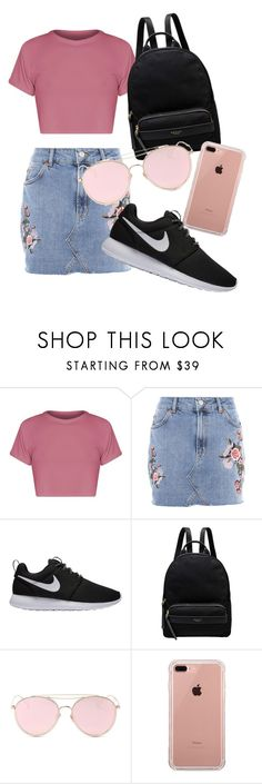 """""""School outfit"""" by indrasavje-1 on Polyvore featuring Topshop, NIKE, Radley, LMNT and Belkin"""