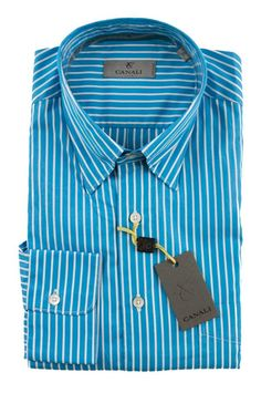 Brighten up your look, in this CANALI 1934 Lt Blue Striped Extrafine Cotton Dress Shirt!  |  Find yours! http://www.frieschskys.com/all-shirts/dress-shirts  |  #frieschskys #mensfashion #fashion #mensstyle #style #moda #menswear #dapper #stylish #MadeInItaly #Italy #couture #highfashion #designer #shopping