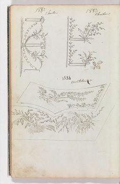 Fabrique de Saint Ruf | Scrapbook of Designs for Embroidered Waistcoats | The Met