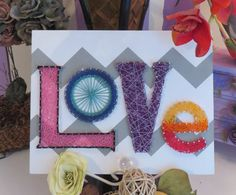 HECHO de orden String Art amor cadena arte por StringoftheArt