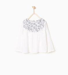 Raised embroidery blouse from Zara
