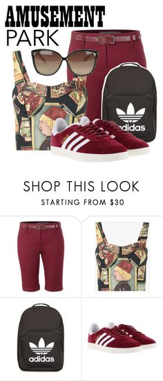 """Rebecca"" by heavenlydevonlea ❤ liked on Polyvore featuring LE3NO, Simon Miller, adidas, Linda Farrow, amusementpark and 60secondstyle"
