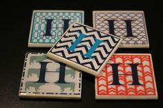 Monogramed Coasters