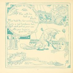 The Baby's Own Aesop: Being the Fables Condensed in Rhyme with Portable Morals Pictorially Pointed by Walter Crane, 1908.